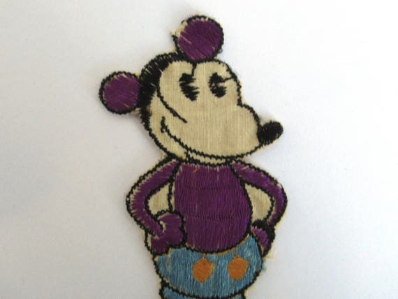 Antique mickey mouse applique very rare collectible 1930s mickey