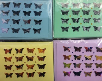 10 Butterfly greeting cards with matching envelopes, C6 for wedding invites, thank yous, birthdays etc  Homemade