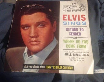 ELVIS Return To Sender 45 PS Picture Sleeve RCA 47-8100