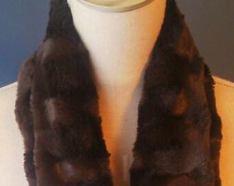 Scarf in Brown fake fur Choker for little girl!