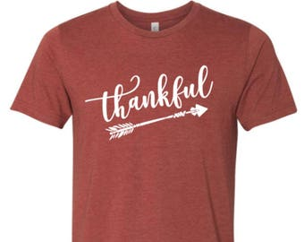Thankful shirt - Thankful Holiday- Holiday Shirt - Thanksgiving shirt - Enid and Elle