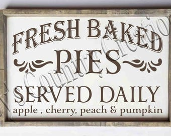 Fresh Baked Pies   SVG, PNG, JPEG