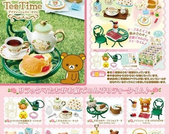 Rilakkuma British Tea Party - Complete 8 Box by Re-ment  Mumintrollen Miniatures Figure Collections