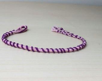 Mauve and purple Friendship Bracelet handmade (2)