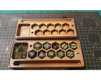 Tabletop Gaming Player companion. Dungeons and dragons warhammer Cthulhu 40k Dice box