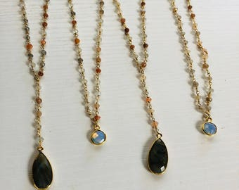 moonstone & Y chokers