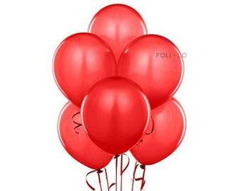 Red Balloon Set | Cherry Party Balloons | Red Event Balloons | Strawberry Party Theme Balloons | Red Decoration | Set of 6