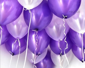 Purple Ombre Balloon Set | Unicorn Party Balloons | Lavender Event Balloons | Mermaid Party Theme Balloons | Lavender Decoration | Set of 6