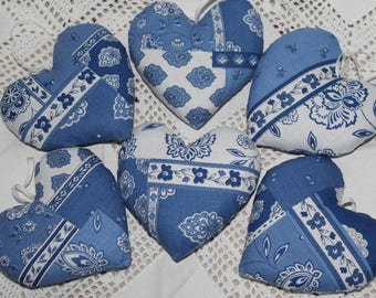 Heart of Provence blue white 11 x 11 cm Lavender