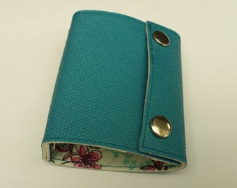 Recycled - Card holder recycled rigid linoleum blue (n 65)
