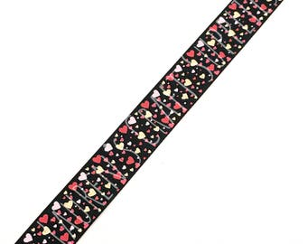 "Heart Ribbon | Valentines Day Ribbon | Grosgrain Ribbon | Hair Bow Ribbon | US Designer Ribbon | 7/8"" Ribbon | Heart Hair Bow Ribbon"