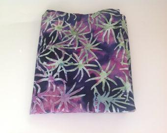 Batik Purple & Green Fabric | Fat Quarter