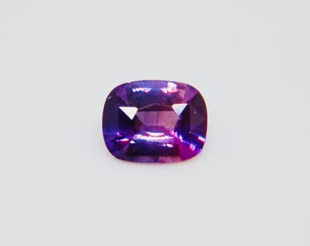 Natural Purple Blue Sapphire |  Cushion Cut | 6.42mm | Unheated | Untreated | Eye Clean | Ceylon Blue Purple Sapphire |