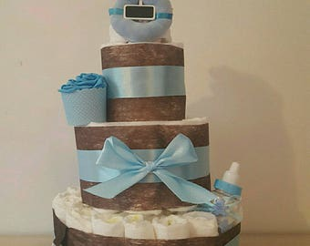 Beautiful boy diaper cake