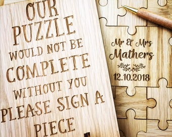 Puzzle Guestbook, Jigsaw Guestbook, Unique Guestbook, Jigsaw puzzle guestbook, Wedding Guestbook