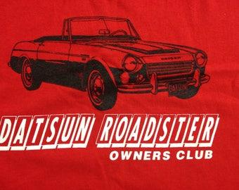 Vintage Nissan DATSUN owners club pocket tee t-shirt size Large retro datsun 280z 240z 260z car roadster