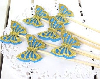 Cinderella Party, Butterfly Picks, Magic Wands, Birthday Decoration