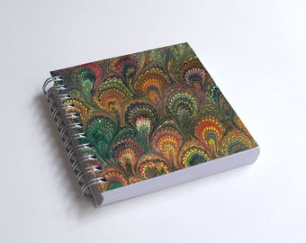 "Notebook 4x4"" decorated with motifs of marbled papers - 15"
