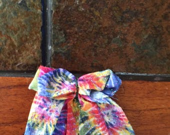 Tye-dye hair bow