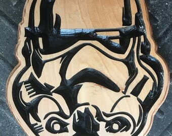 Star Wars Stormtrooper Carved Wooden Sign