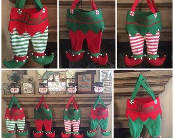 Elf Stockings, Elf Pants, Christmas Stockings