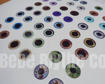 PDF To Print and How to Make Your Own Custom Blythe Eye Chips Resin Eyes for Blythe Dolls