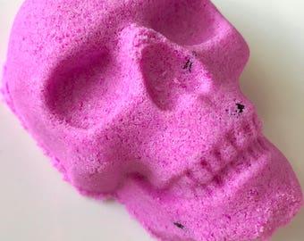 Purple Bath Bomb - Skull Bath Bomb - Colorful Bath Bomb - Bath Bomb Gift - Halloween Bath Bomb - Gothic Bath Bomb - Rose Bath Bomb