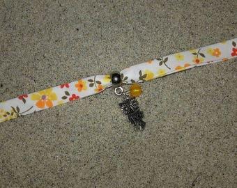 Bracelet liberty OWL Orange and white