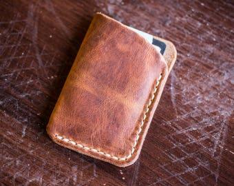 Card Sleeve, Slim Wallet, Card Wallet, Minimal Wallet, Business Card Holder, Mens Leather wallet, Front Pocket Wallet, Leather Sleeve