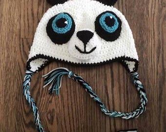 Panda Hat Fits Child 4-10