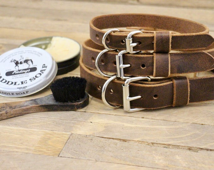 Collar, Classic collar, Leather collar, Dark coffee colour dog collar, Handmade collar, Dog collar, Minimal collar, Sturdy collar.
