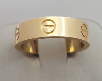 18K Yellow Gold Ring Inspired (Love Ring)
