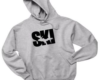 Ski shirt, ski hoodie, ski sweatshirt, michigan ski, ski michigan, Upper Michigan shirt, UP hoodie, Sport shirt, ski apparel, Michigan sport