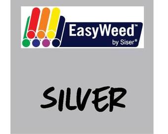 Siser EasyWeed Heat Transfer Vinyl - HTV - Silver