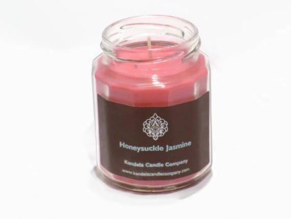 New! Honeysuckle Jasmine Scented Candle in Twelve Sided Jar