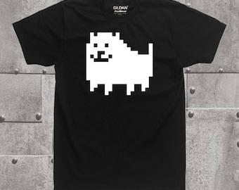 Undertale Annoying dog graphic shirt, gamer, tops and tees, cosplay, gamer shirt, clothing, unisex shirt