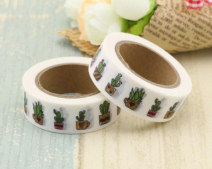Cacti Washi Tape - Succulent washi Tape -  cacti Washi Tape - Paper Tape - Planner Washi Tape - Washi - Decorative Tape - cacti