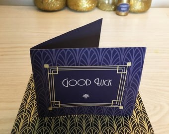 Art Deco Raffle Ticket Wedding Favour, Gatsby Style Lottery Ticket Party Favor, 1920s Good Luck Scratch Card Favour & Winner Certificate