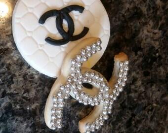 Premium designer fashion  3D printer cookie cutter, fondant paris double C no chanel