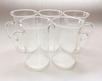 Glass Irish Coffee Mugs - Set of 5