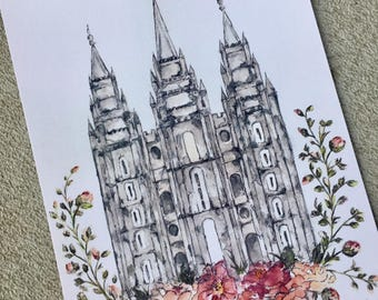 Salt Lake Temple Print