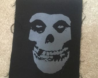 Misfits hand printed patch