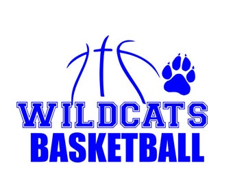Wildcats basketball svg;  Basketball Svg; svg file; dxf file; png file