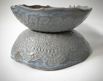 Stoneware Lace Bowl