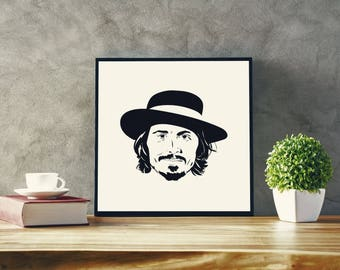 Johnny Depp 12'' X 12'' Print: Digital Download