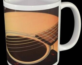 Mug - Acoustic Guitar Mug - Great for Musicians!