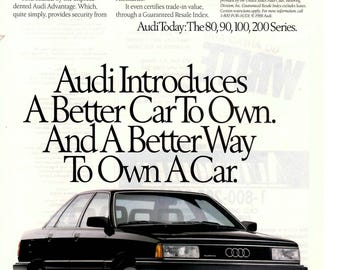 1989 Audi 200 series vintage magazine ad wall decor shop decor (1706)