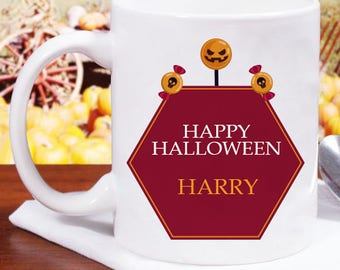 Very Brilliant Happy Halloween Mug Fully Personalized With Name