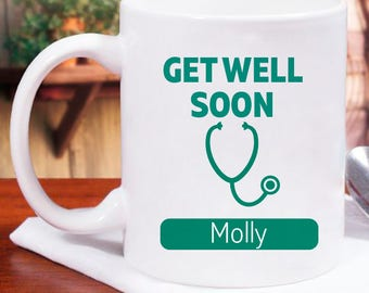 Full of Affection Get Well Soon Personalized Mug With Name Printed