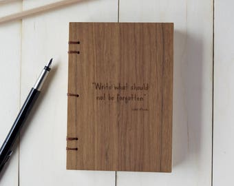 personalised diary, coptic journal, travel diary, travel journal, wooden adventures diary, bullet diary